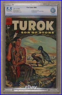 Four Color #596 CBCS 5.5 1954 1st app. Turok