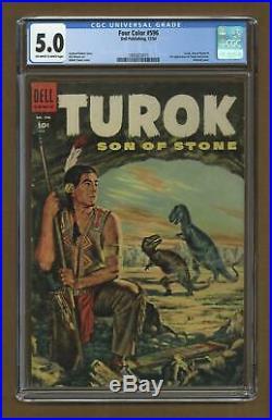 Four Color #596 CGC 5.0 1954 1993823015 1st app. Turok