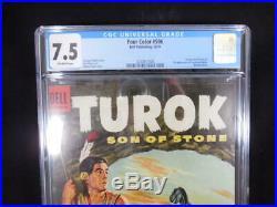 Four Color #596 CGC 7.5 1st Appearance Turok and Andar