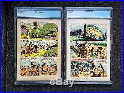 Four Color #596 Turok Son of Stone CGC 5.0 & 656 CGC 7.0 1st & 2nd Appearance