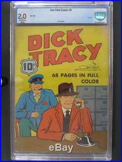Four Color #6 CBCS 2.0 GD Dell 1940 Golden Age Dick Tracy SCARCE