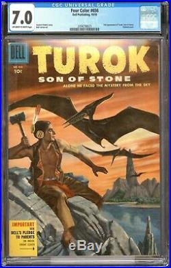 Four Color 656 2ndt Turok / CGC 7.0 F-VF / Key