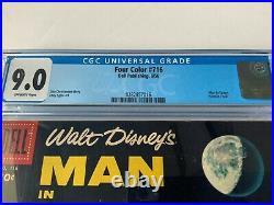Four Color 716 Cgc 9.0 Walt Disney's Man In Space Tomorrowland Dell Comics 1956