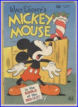 Four Color #79 August 1945 G/VG Mickey Mouse Riddle of the Red Hat Carl Barks