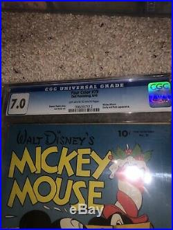 Four Color #79 Mickey Mouse CGC 7.0 Only Carl Barks On Mickey Title 1945