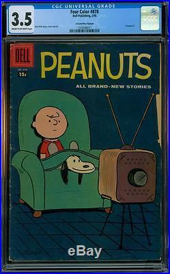 Four Color 878 CGC 3.5 15 Cent Price Variant Peanuts #1