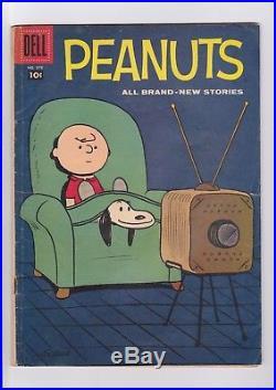 Four Color #878 PEANUTS (#1) 1958 Dell Comics, Charles Schulz story/ art VG+