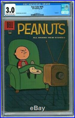 Four Color#878 (Peanuts #1) CGC 3.0 (Dell, 2/1958) Snoopy Charlie Brown
