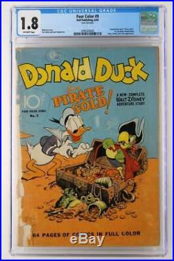 Four Color #9 CGC 1.8 GD- Dell 1942 1st Donald Duck by Carl Barks