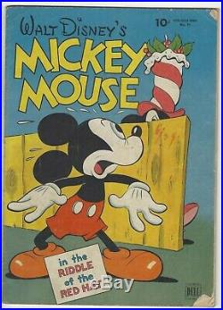 Four Color Comics #79 Mickey Mouse V/VG