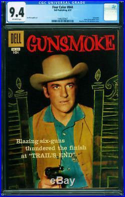Four Color Comics #844 CGG 9.4 1959-Gunsmoke-James Arness 1998200007
