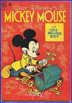 Four Color Comics-Mickey Mouse # 261 1950-Dell-Missing Key-Disney-VF
