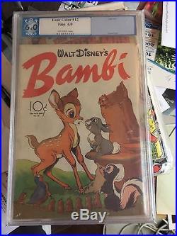 Four Color DELL 1942 Series 2 #12 BAMBI movie Adaption PGX 6.0