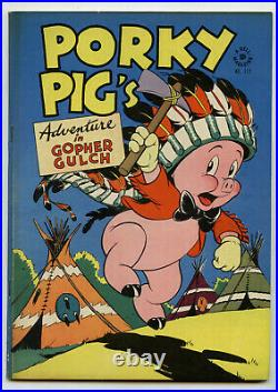 Four Color Dell 112 Porky Pig's Gopher Gulch 1946 Golden Age Very High Grade
