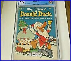 Four Color Dell #367 Donald Duck 1952 Cgc 7.5 Very Fine- Perfect Slab Rare Find