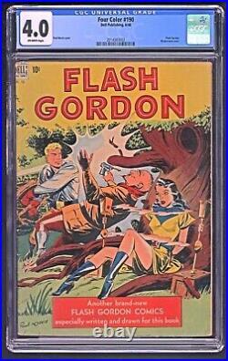 Four Color FC 190 Flash Gordon June 1948 CGC 4.0 Free Ship in Continental USA