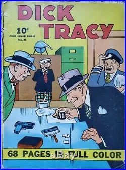 Four Color (series 1, Dick Tracy) #21 Vg- 3.5 Dell 1938