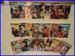 Gunsmoke 2-27 (miss. #25) SET Solid! Four Color 1956-1969 Dell Comics (s 8014)