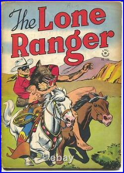 Lone Ranger-Four Color Comics #136-1946-Dell-red shirt & blue pants-VG