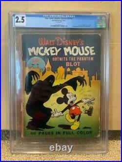 Original 1941 Dell Publishing Mickey Mouse Four Color Comics #16 CGC Graded 2.5