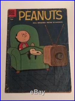 Peanuts #878 Dell Comics Four Color GD+ complete 1958 SCARCE