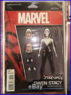 SPIDER-GWEN #1 Marvel Comic Lot 2015 Phantom Figure 4 Four Color Grail Variant