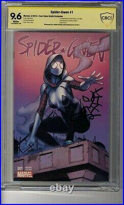 Spider-Gwen (2015) # 1 Four Color- CBCS 9.6 White Pgs SS Jason Latour Remark