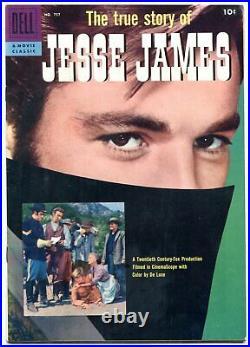 True Story Of Jesse James- Four Color Comics #757 1957 VF