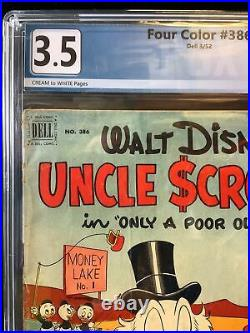 UNCLE SCROOGE #1 (1952) FOUR COLOR #386 Graded 3.5 Carl Barks