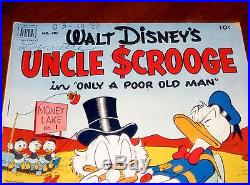 UNCLE SCROOGE #1 (1952) FOUR COLOR #386 VG-F cond (5.0) Carl Barks NICE GLOSS
