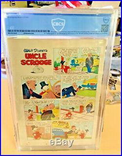 Walt Disney Four Color Comic #386 1st Issue Uncle Scrooge 1952 Cbcs 5.0 Vg/fn