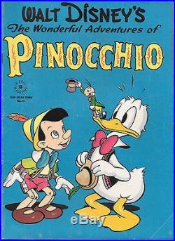 Walt Disney Pinocchio Four Color Comic Book #92, Dell 1945 VERY GOOD+/FINE
