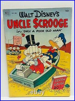 Walt Disney Uncle Scrooge #1 Four Color #386 1952 Carl Barks Mid-Grade