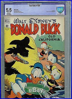 Walt Disney's Four Color #328 CBCS 5.5 1951 Golden Age Dell Donald Duck Barks