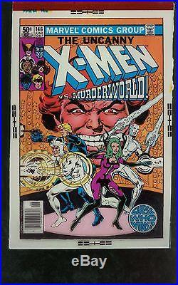 X-Men 146 Four Color Cover Separation